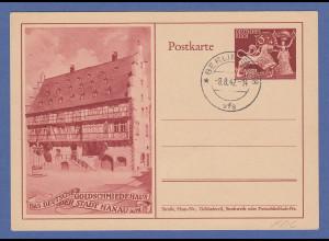 Deutsches Reich Sonder-Ganzsache P293 Goldschmidekunst Hanau mit ERSTTAGS-O FDC