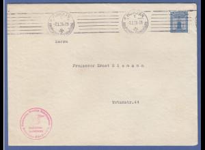 Dt. Reich Partei-Dienstmarke 4Pfg. Mi.-Nr. 146 EF auf Dienstbrief der NSDAP