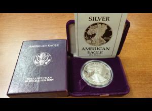 USA American Silver Eagle Walking Liberty 1988 1 Unze Ag999 PP / Proof