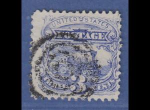 USA 1869 Pictorials 3 Cent Baldwin-Lokomotive Mi.-Nr. 28 gestempelt