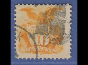 USA 1869 Pictorials 10 Cent Adler auf Schild Mi.-Nr. 30 gestempelt