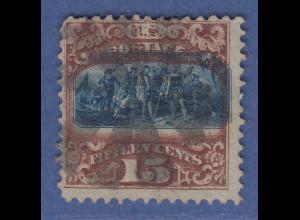 USA 1869 Pictorials 15 Cent Landung des Columbus Mi.-Nr. 32 II gestempelt