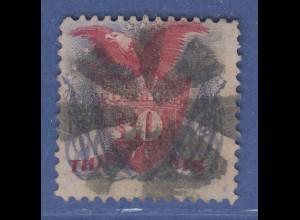 USA 1869 Pictorials 30 Cent Adler auf Wappenschild Mi.-Nr. 34 gestempelt