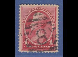 USA 1887 Andrew Jackson 4 Cent Mi.-Nr. 56 gestempelt PERFEKT ZENTRIERT