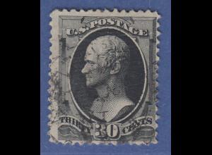 USA 1879 Alexander Hamilton 30 Cent Mi.-Nr. 45 gestempelt