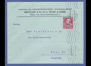 Österreich Ganzsache Ortsporto Wien, Fa. BREVILLIER & Co. URBAN & SÖHNE 1912