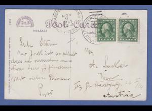 USA Postkarte State Capitol Providence Rhode Island 1914 gel. nach Wien