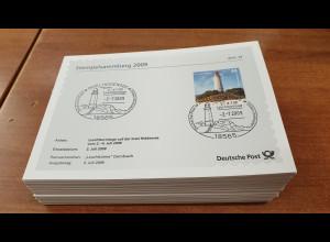 Bundesrepublik 2009-13 Lot 134 Karten Stempelsammlung der Deutschen Post aus Abo
