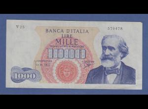 Banknote Italien 1000 Lire G. Verdi 1962