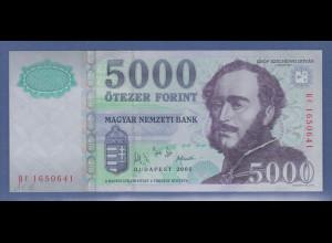 Banknote Ungarn 5000 Forint 2005