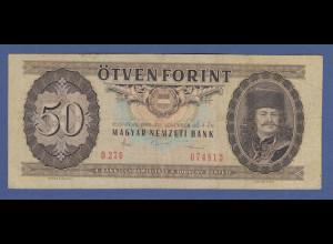 Banknote Ungarn 50 Forint 1986