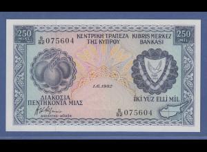 Banknote Zypern 250 Mils 1982