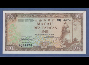 Banknote Macau 10 Patacas 1984