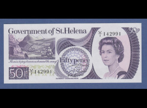 Banknote St. Helena 50 Pence