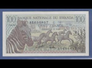 Banknote Ruanda 100 Francs 1978