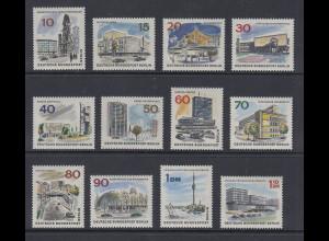 Berlin 1965-66 DAS NEUE BERLIN kpl. Satz 12 Werte Mi.-Nr. 254-265 **