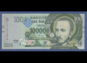Banknote Paraguay 100000 Guaranies 2004 Gonzalez Santa Cruz Represa de Itaipu