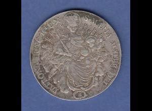 RDR Ungarn alte Silbermünze Joseph II. 1 Taler 1782 B PATRONA HUNG. (ARIE)