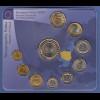 Polen Vor-Euro Kursmünzensatz 9 Nominale, Medaille, 1-€-Münze