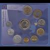 Litauen Vor-Euro Kursmünzensatz 9 Nominale, Medaille, 1-€-Münze