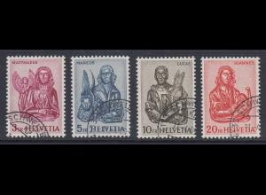 Schweiz 1961 4 Evangelisten Mi.-Nr. 738-741 Satz 4 Werte einheitlich O SCHWEIZE