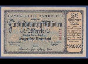 Banknote Bayern 25 Millionen Mark, 1923