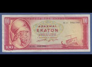 Banknote Griechenland 100 Drachmen