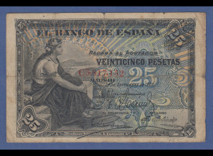 Banknote Spanien 25 Pesetas, 1906