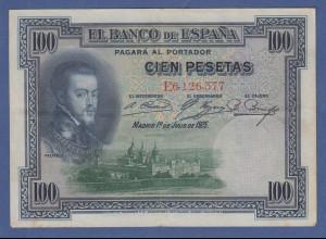 Banknote Spanien 100 Pesetas, 1925