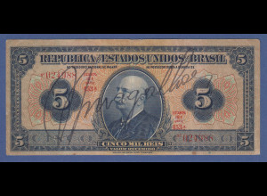 Banknote Brasilien 5 Reis