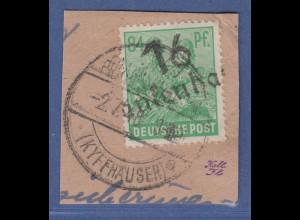 SBZ Bezirkshandstempel Bezirk 16 Bad Frankenhausen Mi.-Nr. 181 III gestempelt