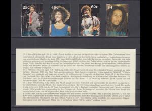 Grenada Lionel Ritchie, Whitney Houston, J. Armatrading, Bob Marley Satz 4 W. **