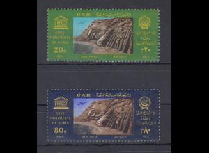 Ägypten / Egypt 1966 Nubische Denkmäler Abu Simbel Mi.-Nr. 821-22 Satz 2 W. **