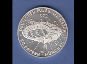 FC Bayern München alte Silbermedaille Deutscher Fussballmeister 1972. SELTEN !