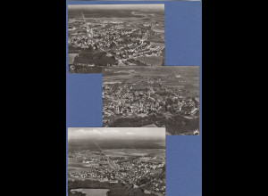 München Deisenhofen Oberhaching Luftaufnahmen 3 Postkarten 1960er Jahre !