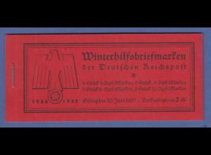 Deutsches Reich 1936 WHW Bauten Markenheftchen MH 43 kompl. einwandfrei **