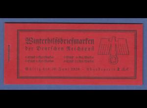 Deutsches Reich 1937 WHW Schiffe Markenheftchen MH 44 **