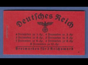 Deutsches Reich 1939 Hindenburg Markenheftchen MH 37.4 **