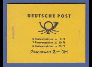 DDR Markenheftchen MH 1 a 1.1 postfrisch **
