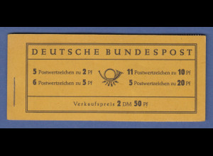 Bundesrepublik Heuss Markenheftchen Mi.-Nr. MH 2 d postfrisch **