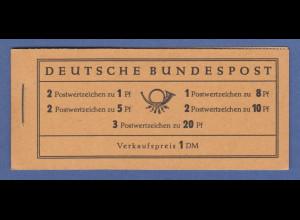 Bundesrepublik Heuss Markenheftchen Mi.-Nr. MH 4 Xv postfrisch **