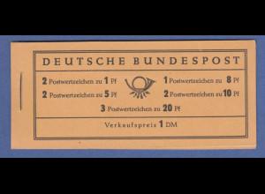 Bundesrepublik Heuss Markenheftchen Mi.-Nr. MH 4 Y II **