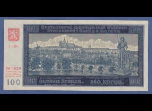 Banknote Böhmen und Mähren 100 Kronen in guter kassenfrischer Erhaltung !