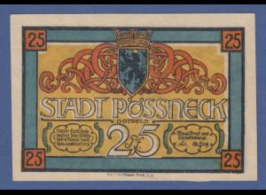 Banknote Notgeld Stadt Pösneck 25 Pfennig 1921
