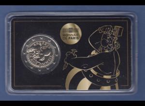 Frankreich 2019 2 Euro-Münze Asterix in Coincard - Motiv Obelix