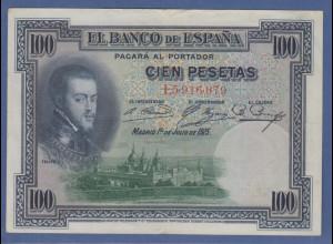 Banknote Spanien Cien (100) Pesetas Felipe II. 1925