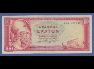 Banknote Griechenland 100 Drachmen 1955