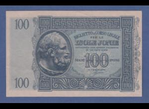 Banknote Italien 1941 Besetzung Ionische Inseln 100 Drachmen
