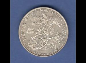Tunesien Silbermünze 1970 FAO Dattelpalme / Habib Bourguiba 1 Dinar