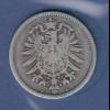 Deutsches Kaiserreich Silber-Kursmünze 1 Mark A 1874 m. Patina
